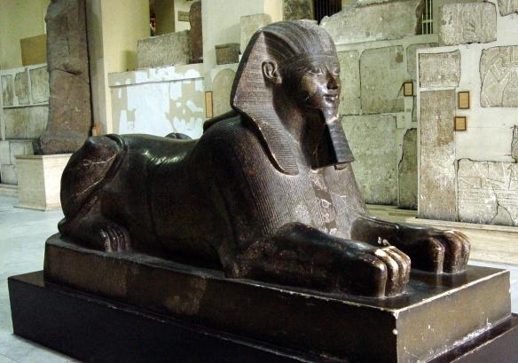 Sphinx of Queen Hatshepsut in Egyptian Museum, Cairo