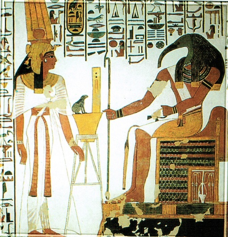Nefertari, Goddess Heqet and God Thoth