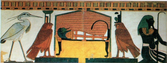 The coffin of Queen Nefertari