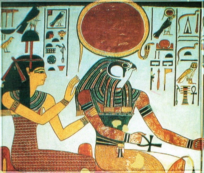 Ra, Horus and Hathor