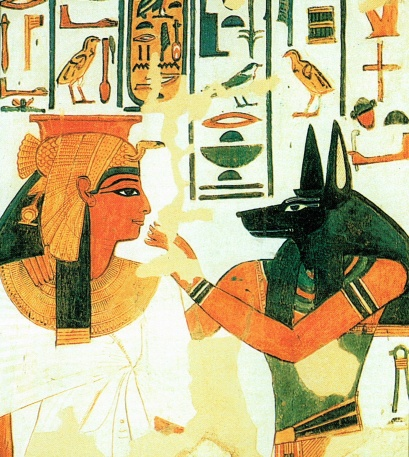 Anubis and Queen Nefertari