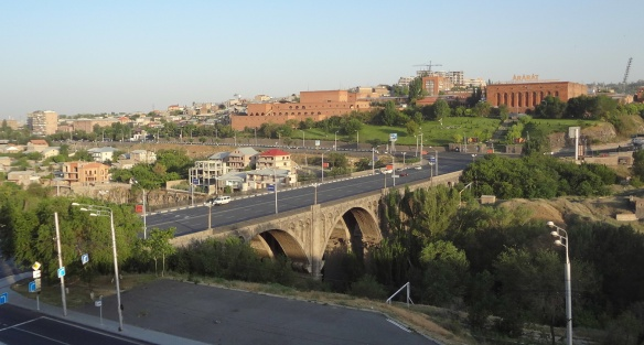 Hrazdan River, Haghtanak Bridge and Ararat Brandy Company
