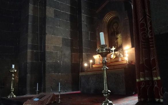The main altar in Saint Hripsimé Church