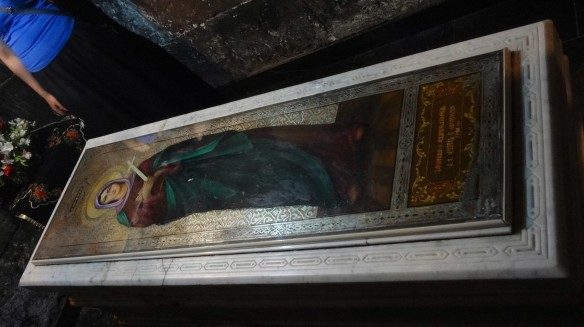 Coffin of Saint Hripsimé; there is still the remain of the martyred Saint Hripsimé in the church.