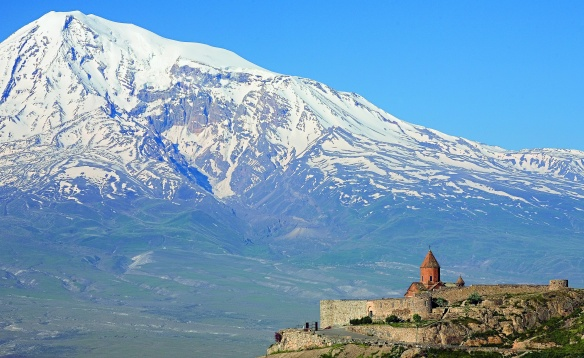 Ararat Mountains and the Khor Virap Monastery