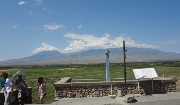 The scenery of Ararat Mountain range, from the Khor Virap Monastery