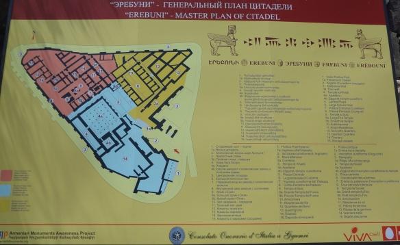 Erebuni master plan of citadel