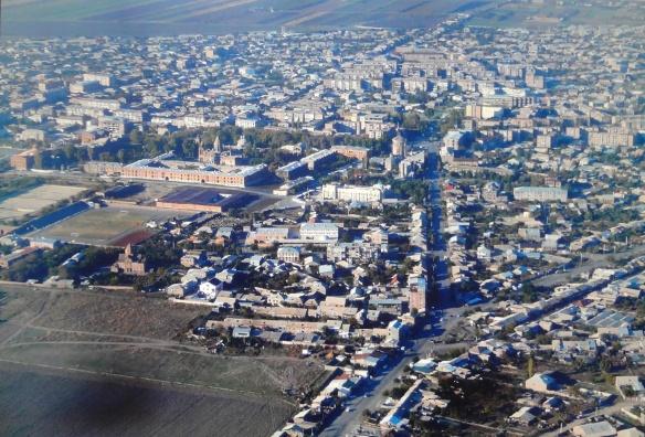 Bird's–eye View of Ejmiatsin City