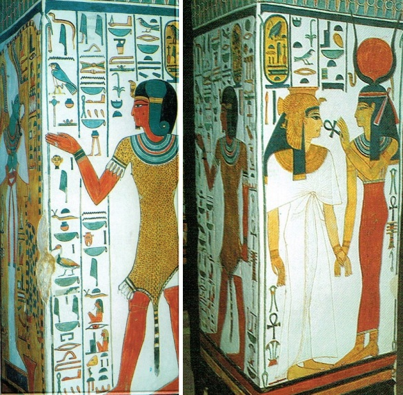 Priest Harnagit Eff and Isis and Nefertari