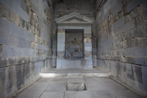 The interior of the Garni Temple