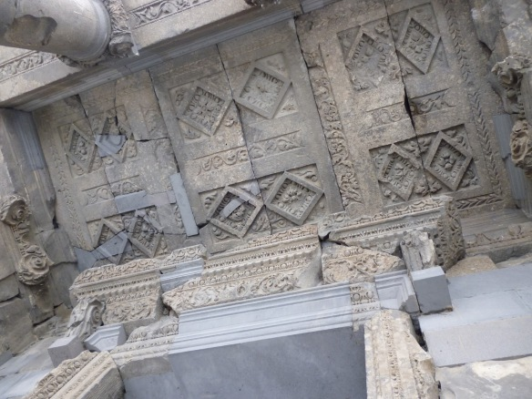 The ceiling of the Garni Temple