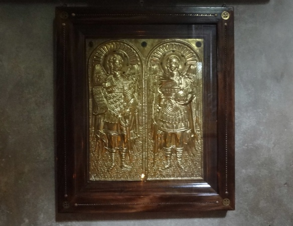 Golden icon of the church