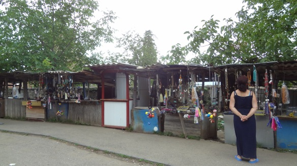 Souvenir shops in front of Gelati Monastery