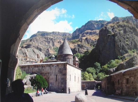 Enter the Geghard Monastery