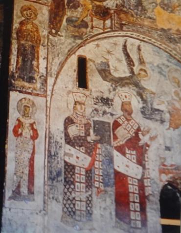 Fresco, Tamar and her father Giorgi III