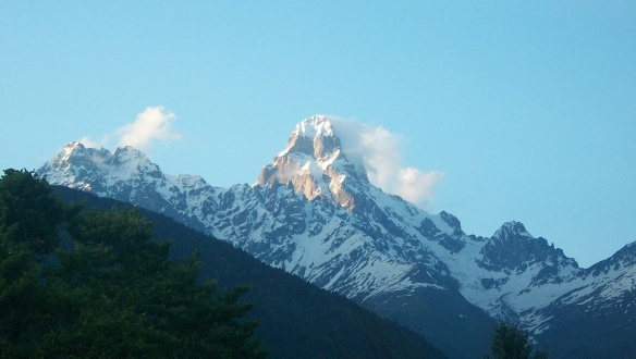 View of the Peak of Ushba