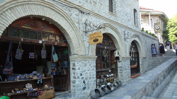 The outside of the caravanserai