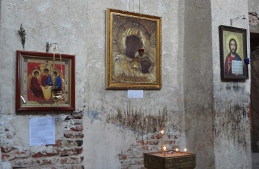 Icons of the church inside