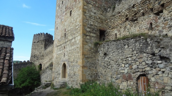 The strong castle of Ananuri