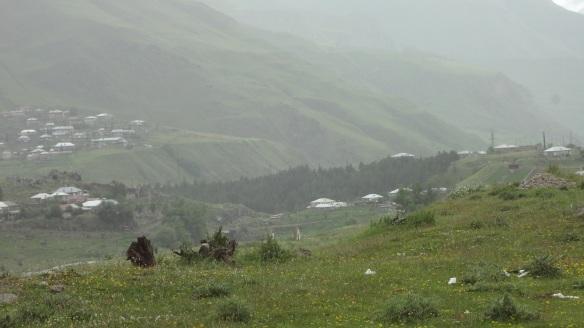 Getting into Kazbegi village