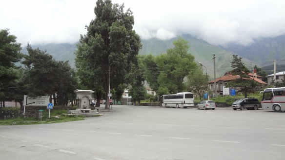 Center of Kazbegi village