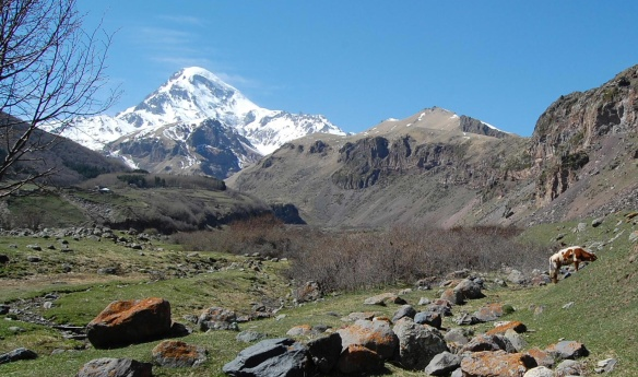 Beautiful Mount Kazbek
