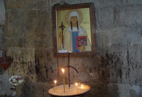 "Icon of the monastery, ""Saint Nino and Nino Cross"""