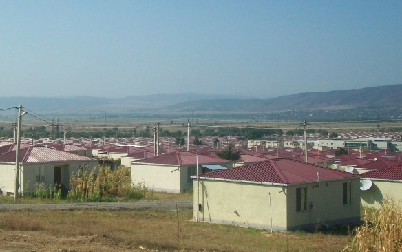 Camp of the refugees from South Ossetia