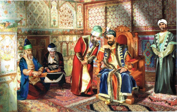 Muhammed Huseyn Khan who built the palace; Painter-Arif Hasanov