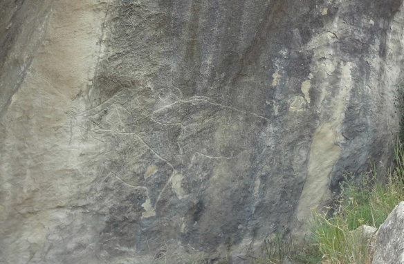 Ancient Petroglyphs at Gobustan National Park,