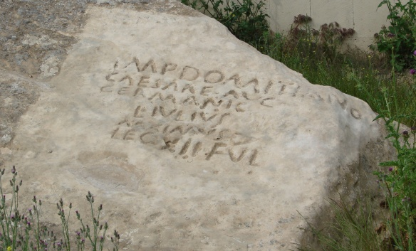 Roman stone inscription, carved between 84 and 96 A.D.