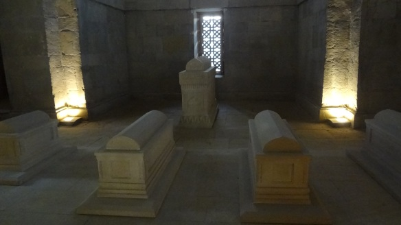 Sarcophaguses of the mausoleum