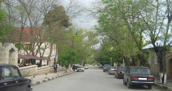 Quiet street of Shemakha