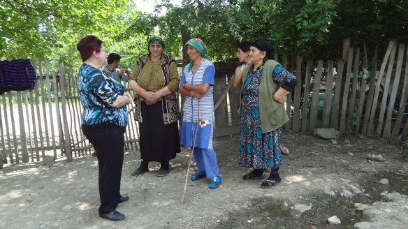 Refugees from N.K. Men go to the town to look for work. (The left woman is an interpreter.)