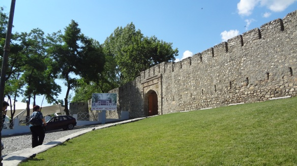 Sheki Khan Palace is surrounded by the castle walls