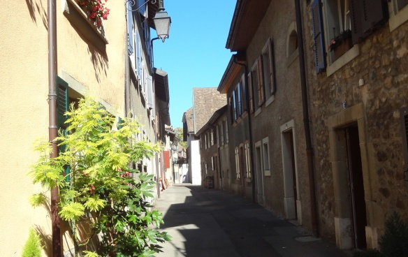 Narrow aisle of the old town