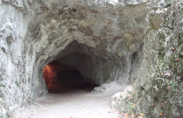 The exit of the cave