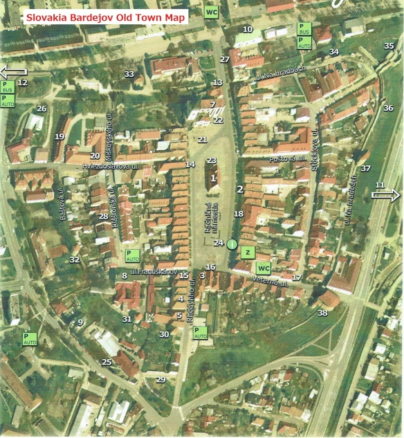 Bardejov Old Town Map