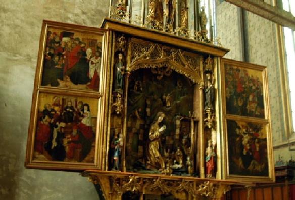 The altar of St. Egidius