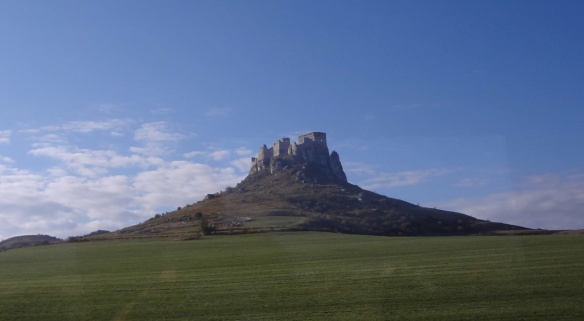 Distant view of Spiš Castle