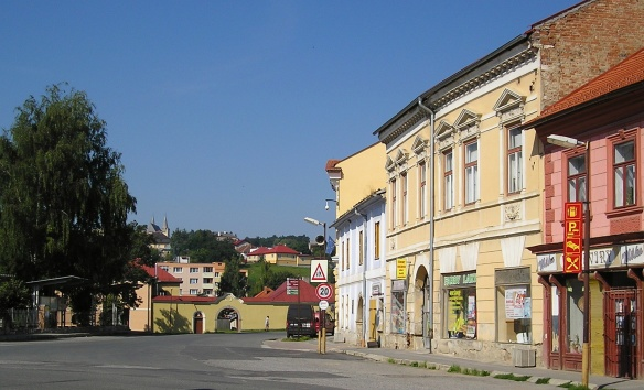 Getting into the town of Spišské Podhradie