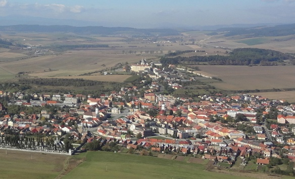 Town of Spišské Podhradie, the view from  Spiš Castle