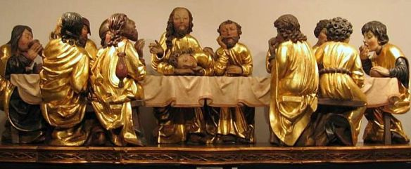 The Last Supper scene from Master Paul's altar in Levoča