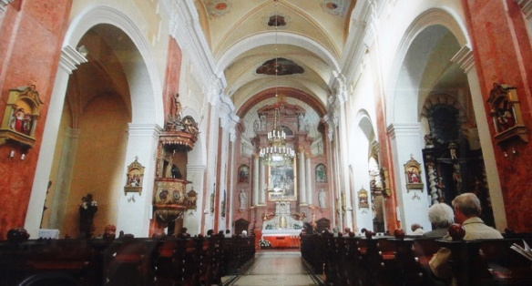 Interior of the Franciscan church