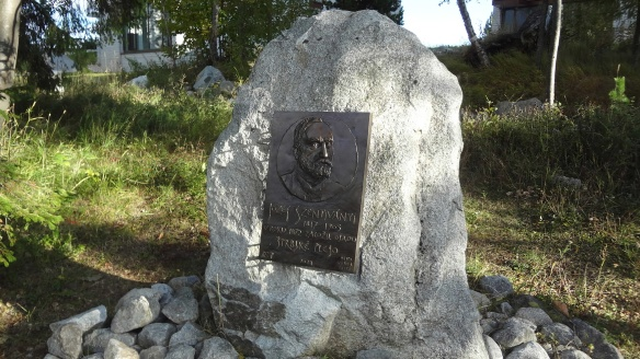 First developer of this area, Jozef Szentivanyi relief on the memorial