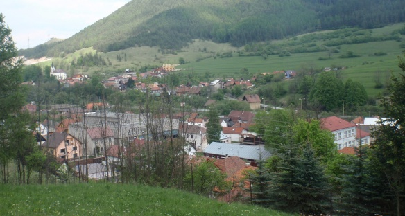 iew of the Biely Potok Village, from the mountain path