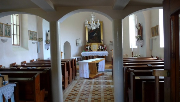 Interior of the Church of the visitation of the virgin Mary