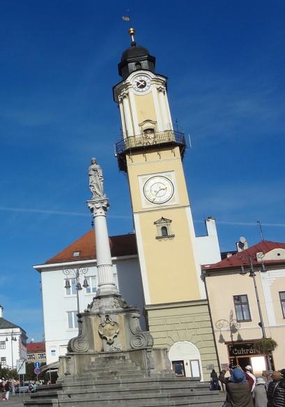 ② Clock tower ③ Marian column