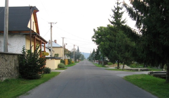 Rural road of Hronsek