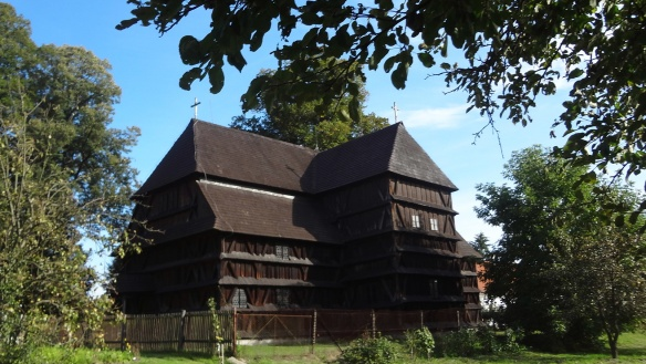 Articular Protestant wooden church in Hronsek